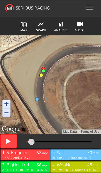 Serious-Racing map view