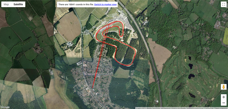 Brands Hatch GPS Trace