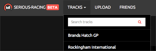 Track search bar